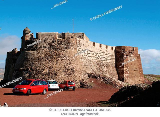 Santa Bárbara castle at Teguise, Lanzarote. Canary Islands. Spain