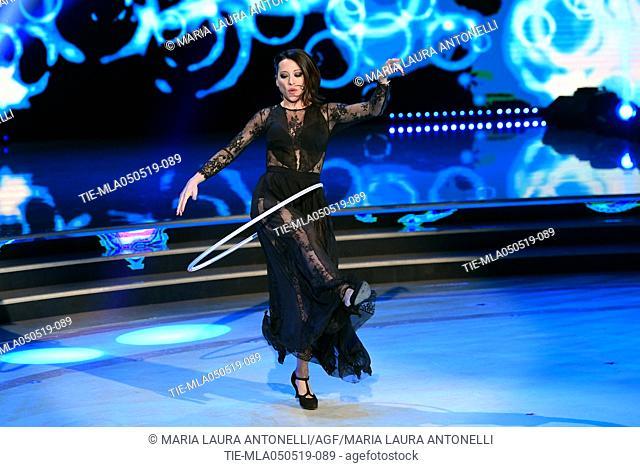 Nunzia De Girolamo during the performance at the tv show Ballando con le stelle (Dancing with the stars) Rome, ITALY-04-05-2019
