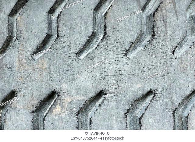 detail of old used tire surface, texture