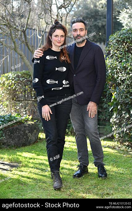 Alice Rohrwacher, Saverio Costanzo during 'My Brilliant Friend Season 2' tv series premiere, Rome, Italy 21/01/2020