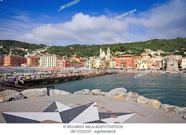 Italy, Liguria, Laigueglia, Floor Sundial
