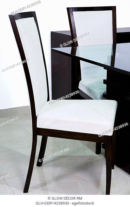 Table with chairs in a dining room