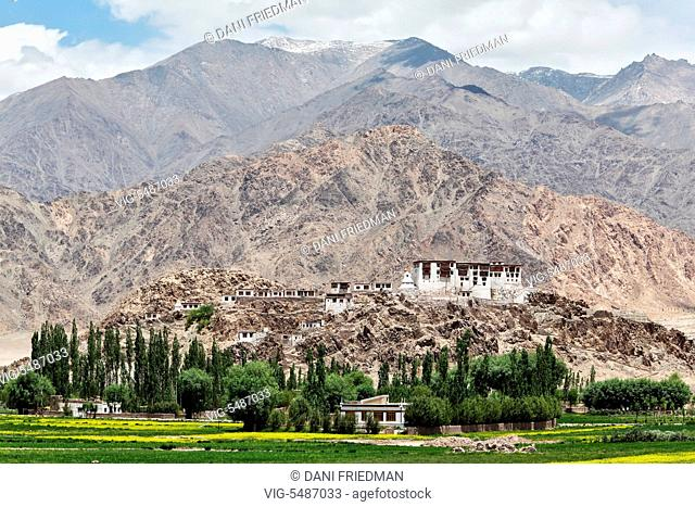 Stakna Monastery (Stakna Gompa) in Stakna, Ladakh, Jammu and Kashmir, India. The Stakna Monastery is situated at a distance of approximately 25 km from the town...
