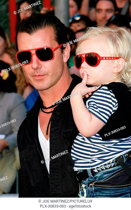 Gavin Rossdale with son Zuma at the Premiere of Touchstone Pictures' Gnomeo and Juliet. Arrivals held at the El Capitan Theatre in Hollywood, CA, January 23