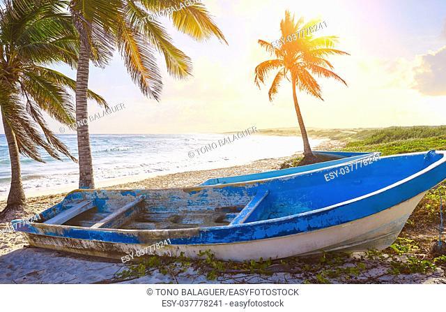 Chen Rio beach sunset Cozumel island in Riviera Maya of Mayan Mexico