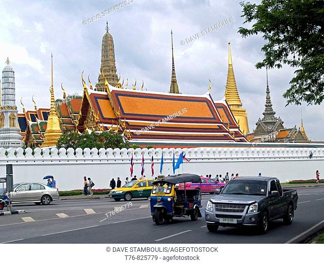 street view of the Grand Palace in Bangkok Thailand
