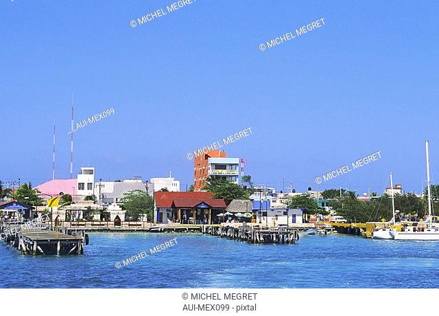 Mexico - The Mayan Riviera - Isla Mujeres - Playa Norte - Centre of the city