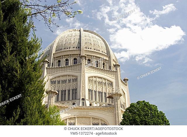 Baha'i Temple in Wilmette, Illinois, USA