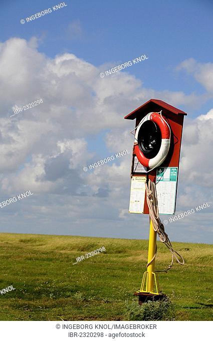 Rescue station, Hamburger Hallig, North Frisia, Schleswig-Holstein, Germany, Europe