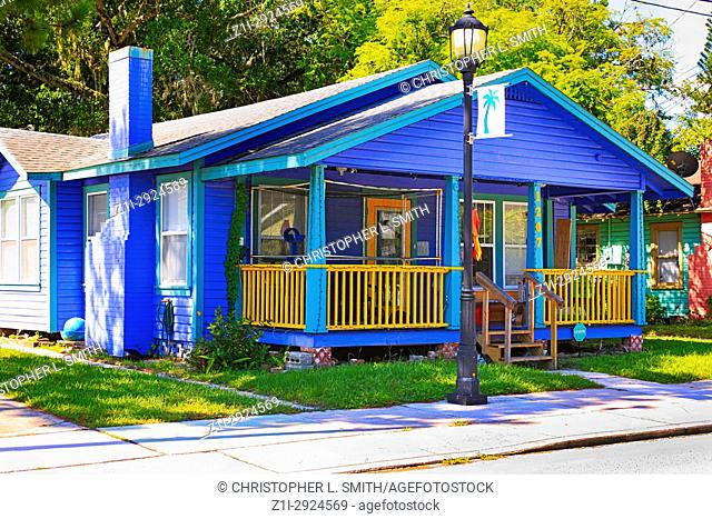 Residential home and businesse in the Village of the Arts District of Bradenton FL, USA