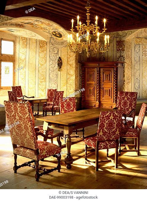 Bailiff room, Gruyeres Castle, Switzerland