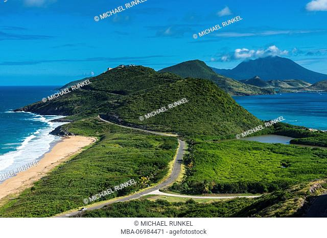 Overlook over Turtle Bay in St.Kitts, St. Kitts and Nevis, Carribean