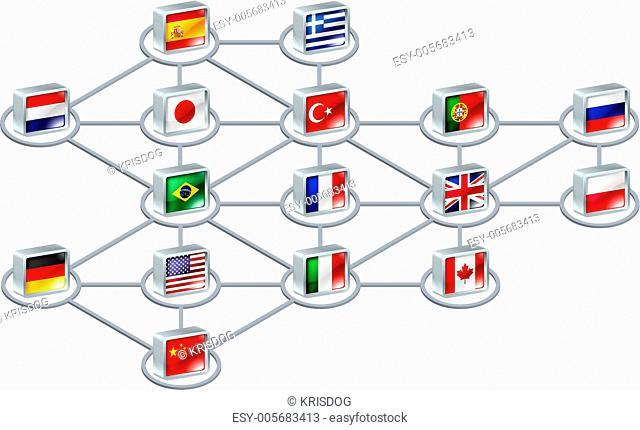 World network concept