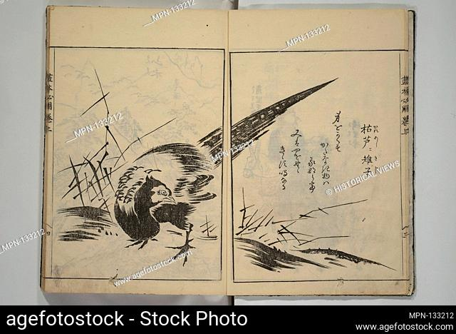 A Picture Book on the Study of Paintings (Ehon hitsuryo). Artist: Sadatoshi (Japanese, active 1716-36); Period: Edo period (1615-1868); Date: 1751; Culture:...