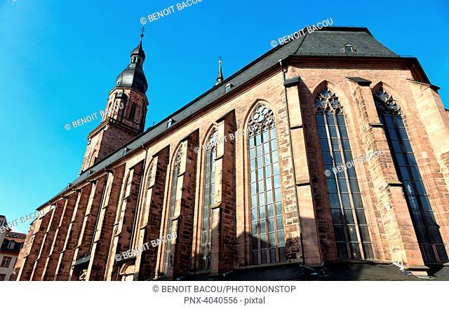 Heidelberg Cathedral, Metropolitan Region Rhine-Neckar Heidelberg, Germany