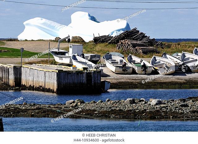 Iceberg, boats, Twillingate, Newfoundland, Canada, Ice