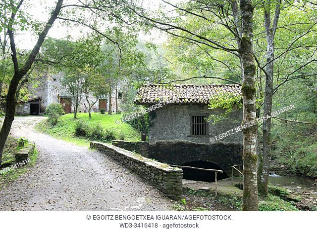 Small watermill in Agorregi, Pagoeta Natural Park, Basque Country, Spain