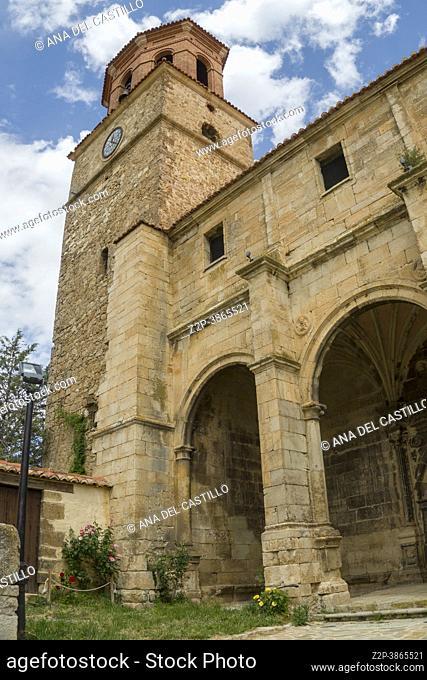 Terriente village in Albarracin mountains Teruel Aragon Spain the parish church