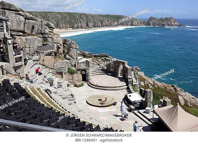 The Minack Theater, open-air, Porthcurno, Cornwall, England, United Kingdom, Europe
