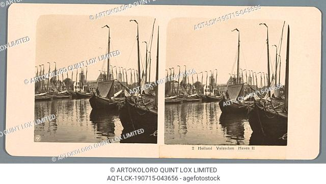 Boats in the harbor of Volendam Holland Volendam Harbor II (title on object), ships (in general), harbor, Neue Photographische Gesellschaft (mentioned on...