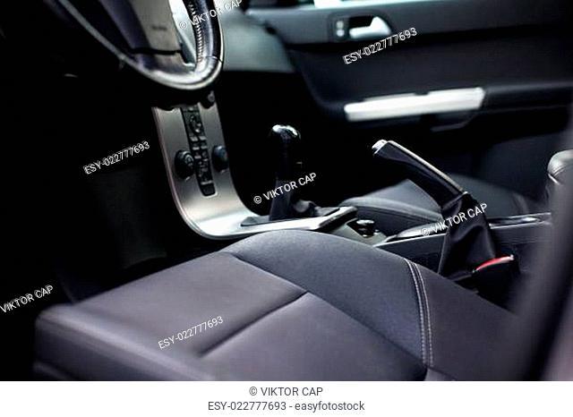 Modern car interior (color toned image)