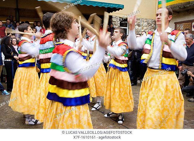 'Danza de los Zancos' folk dance,without stilts,Anguiano, La Rioja, Spain