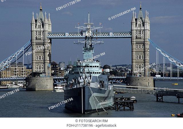 england london hms belfast tower bridge britain