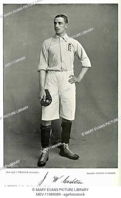 J W Crabtree, Burnley, Aston Villa and England International footballer