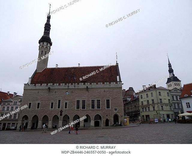 Town Hall Building (14th Century) in Town Hall Square-Tallinn, Estonia