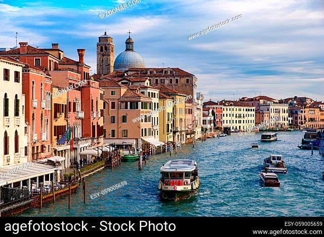 Grand Canal, the major waterway in Venice, Italy