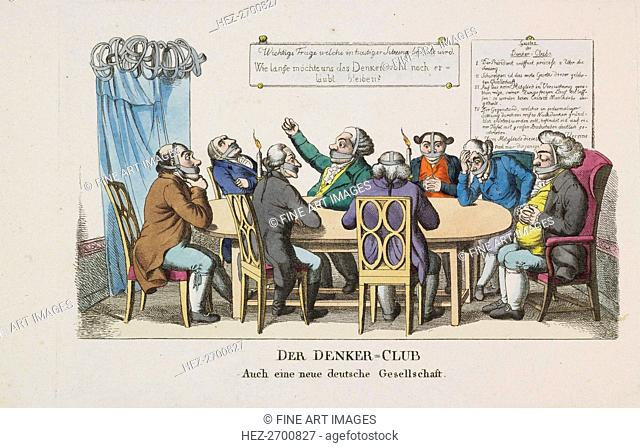 The Thinkers Club, ca 1820