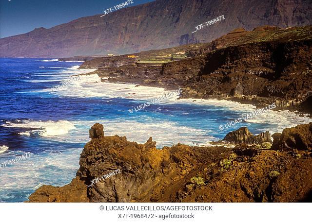 Coast in El Golfo valley, El Hierro, Canary Island, Spain, Europe