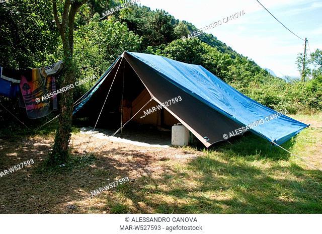 Tenda Da Campo.Tenda Da Campo Campo Scout Stock Photo Picture And Rights
