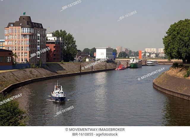 Inland port, Ruhrort district, Duisburg, Ruhrgebiet area, North Rhine-Westphalia, Germany, Europe