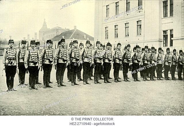'Servian Cavalry on Parade', (1919). Creator: Unknown