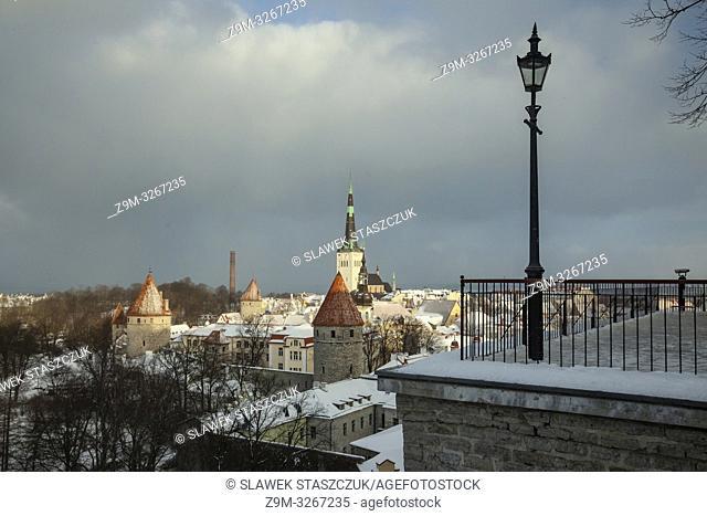 Winter in Tallinn old town, Estonia