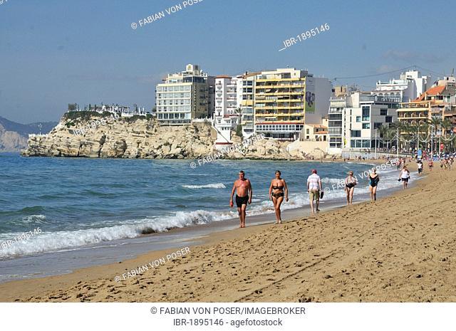 Beach Playa Levante in Benidorm, Costa Blanca, Spain, Europe