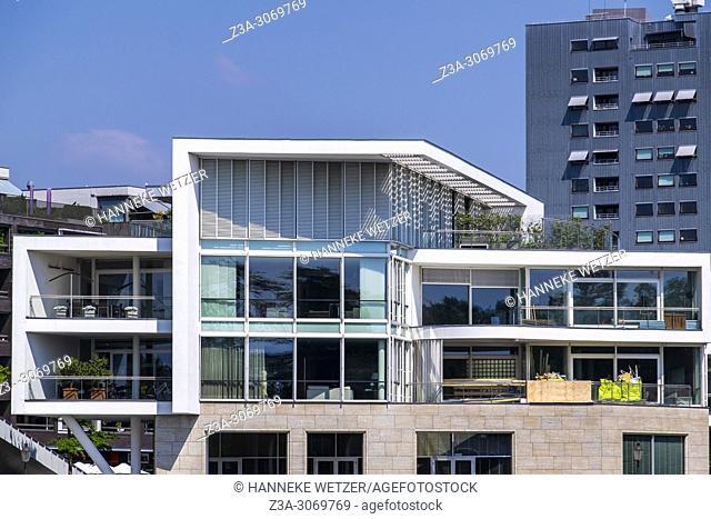Modern architecture in Maastricht, Limburg, The Netherlands, Europe
