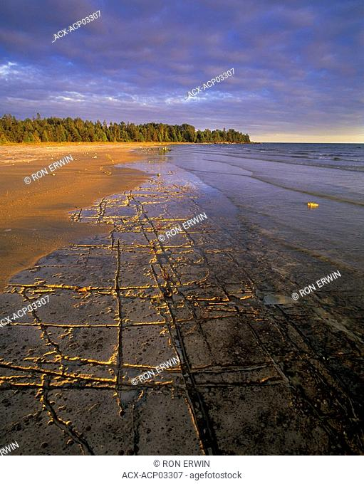 Manitoulin's Alvar coast in Misery Bay Provincial Nature Reserve, Manitoulin Island, Ontario, Canada