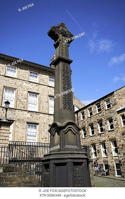 covell cross outside the judges lodges museum former town house and gillow museum england uk