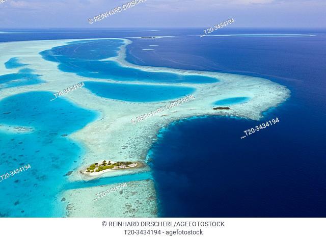 Uninhabited Island near Bodumohora, Felidhu Atoll, Indian Ocean, Maldives