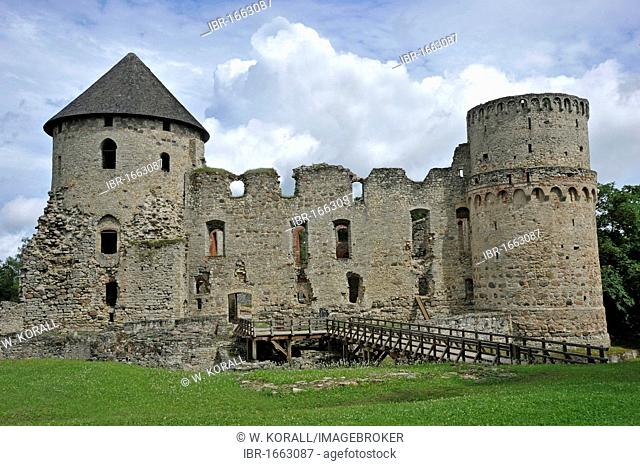 Palace of the Teutonic Knights, Cesis, Latvia, Baltic States, Northern Europe