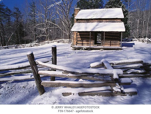John Oliver cabin. Cades Cove. Great Smoky Mountains NP. Tennessee. USA