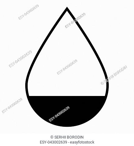 Drop icon icon black color vector illustration isolated
