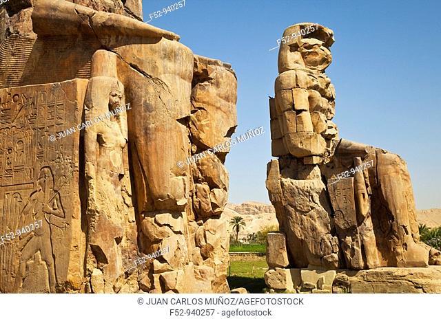 Colossi of Memnon. Luxor. Nile Valley. Egypt