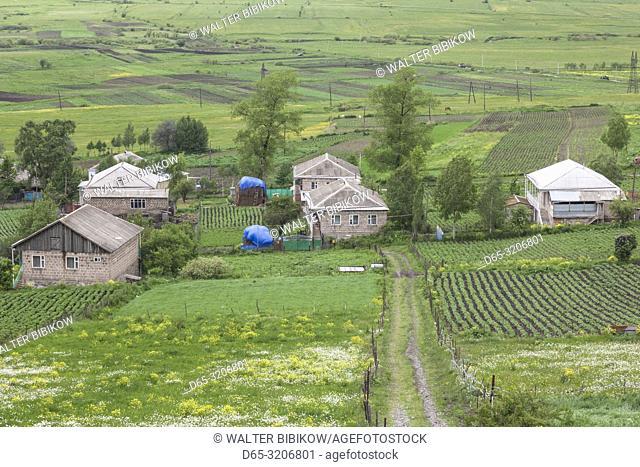 Armenia, Switzerland of Armenia area, Margoaovit, high angle village view, spring