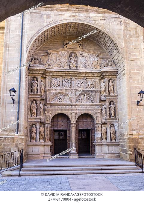 Door. Iglesia de Santo Tomás Apóstol. Haro (capital of Rioja Wine). La Rioja. Spain