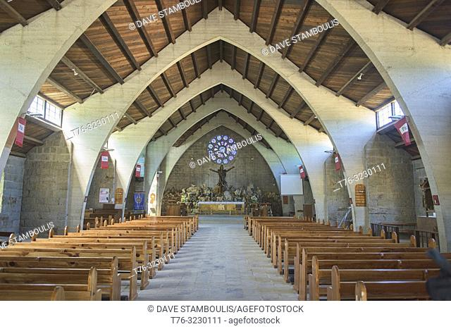 Interior of the Igorot church in Sagada, Mountain Province, Philippines