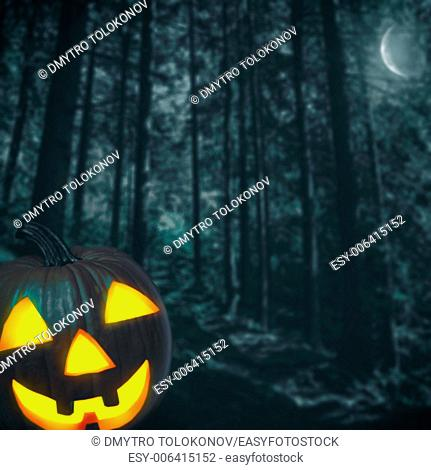 Spooky forest. Abstract Halloween backgrounds for your design