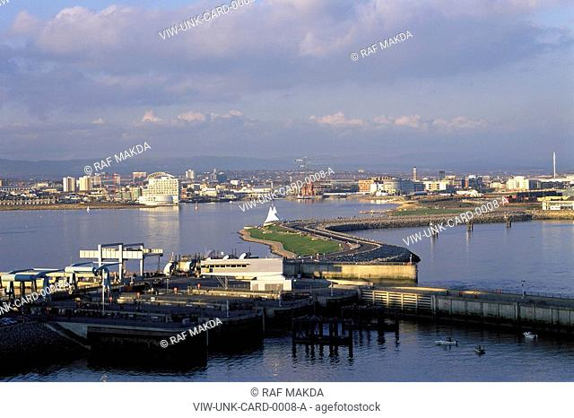 VIEW OF CARDIFF BAY, WALES, UK, UNKNOWN OR N/A, EXTERIOR, CARDIFF BAY BARRAGE